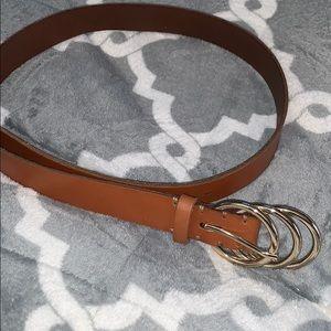 american eagle 3 ring brown belt